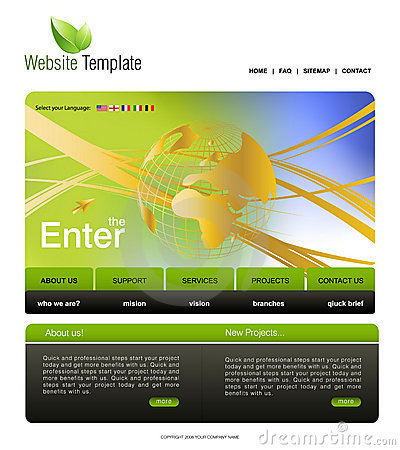 website template stock photography image 15951632