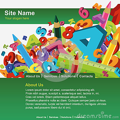 Free Website Template Royalty Free Stock Image - 29007566