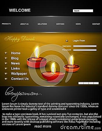 website template beautiful happy diwali colorful h stock photos