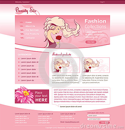 Website template for beauty business