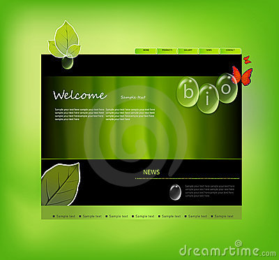 Website template bio