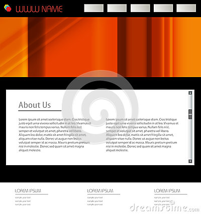 Website template for busines