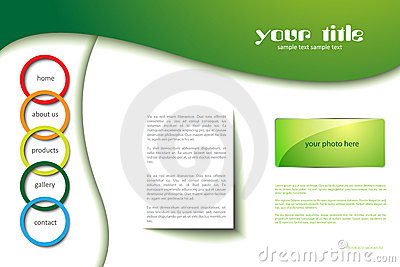 Website template with circles