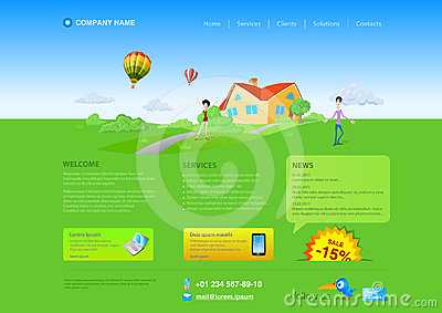 Website template: Countryside Realty