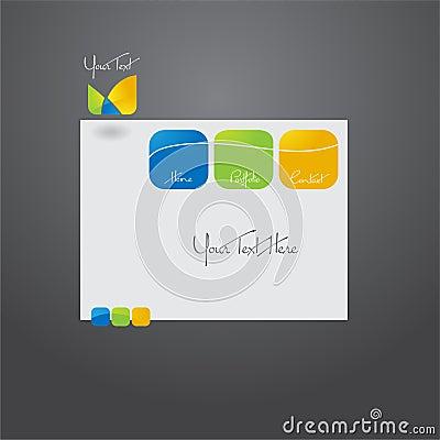 Website template design.