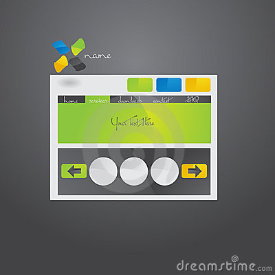 Website template design.