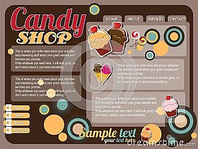 Website template design elements