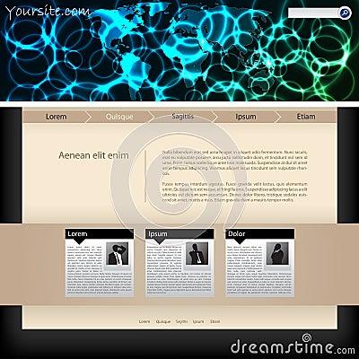 Website template design with plasma header