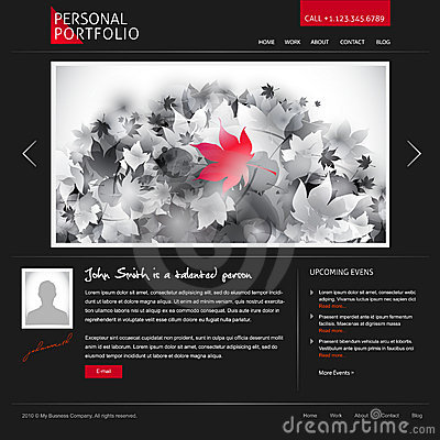 Website template for designers and photographers