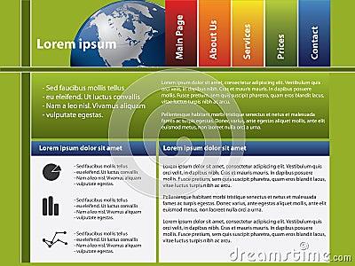 Website template - Earth