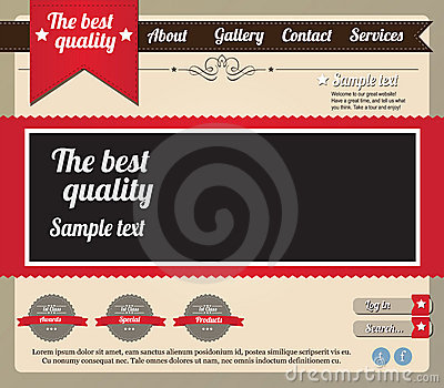Website template elements