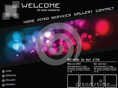 Website template elements, futuristic