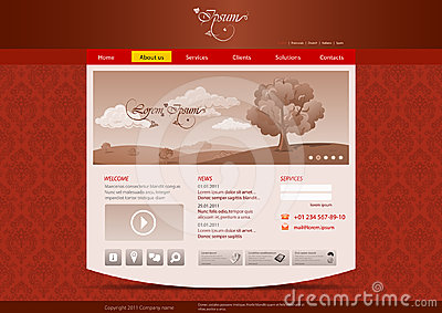 Website template for hotel, restaurant, beuty