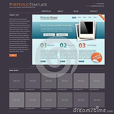 Website template portfolio + bonus