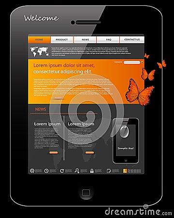 Website template, universal phone design