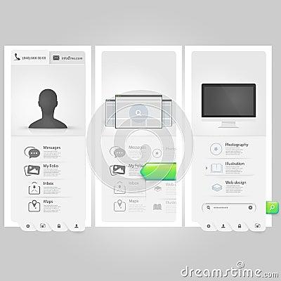 Free Webste Template Ui Elements:Personal Vcard Portfol Stock Photos - 36737093