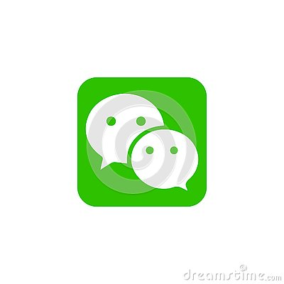 Wechat Editorial Vector Illustration on background Vector Illustration