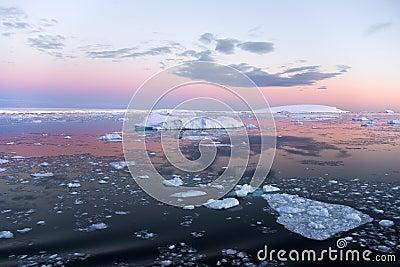 Weddell моря Антарктики