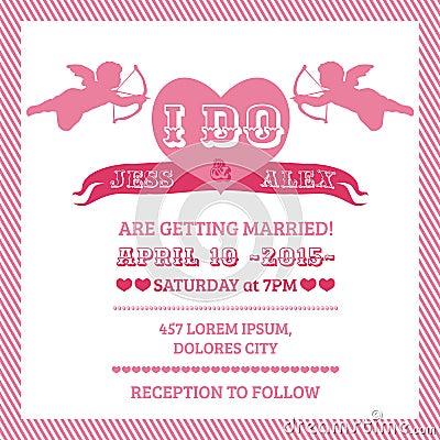 Wedding Angel Invitation Card
