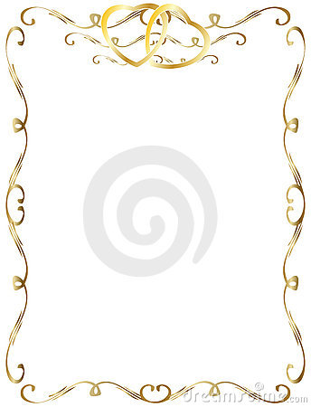 Free Wedding Anniversary Border Invitation Stock Image - 11363651