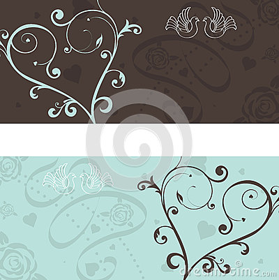 Free Wedding Announcement With Doves Royalty Free Stock Photos - 27154938