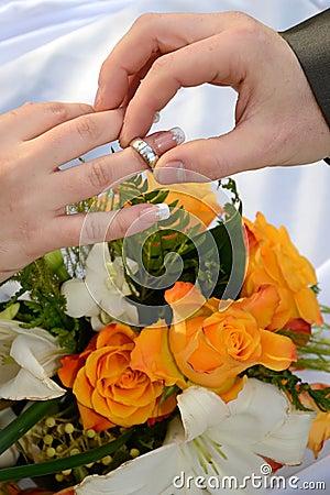 The wedding background