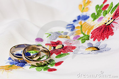 We wedding background in folk style