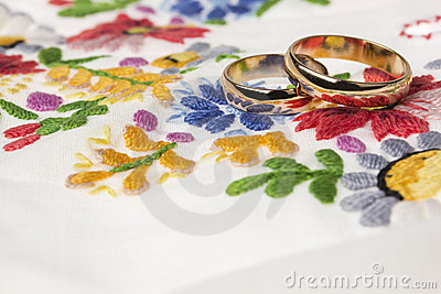 We wedding background in folk style