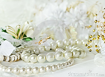 Wedding background with Pearl