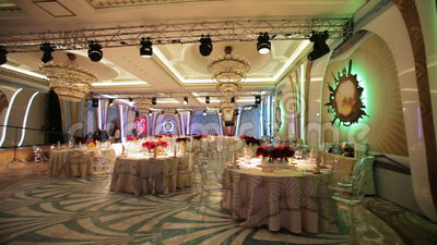 Wedding banquet hall interior