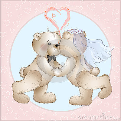 Wedding bears have Vector Illustration