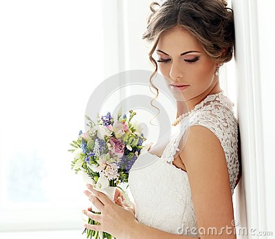 Wedding. Beautiful bride Stock Photo