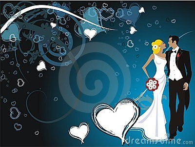 Wedding beautiful couple card