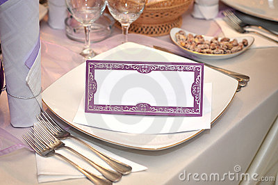 Wedding blank card