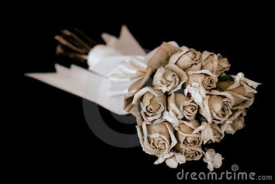 Wedding bouquet on black