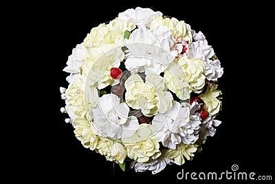 Wedding Bouquet on black background