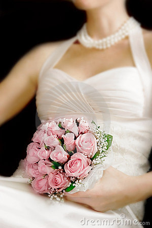 Wedding bouquet in bride s hands