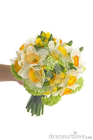 Wedding bouquet with daffodil