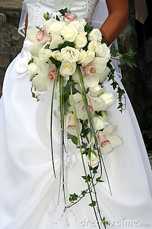 Free Wedding Bouquet From White Orchid Stock Images - 2112864
