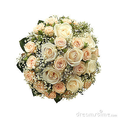 Wedding bouquet isolated
