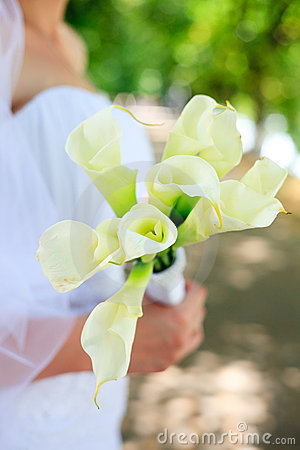 Wedding bouquet from kallas Stock Photo