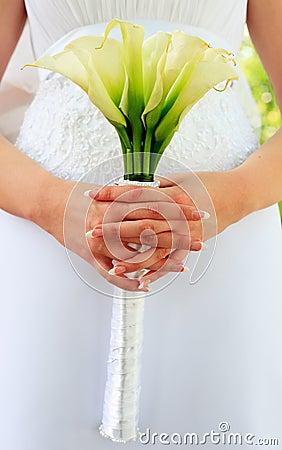 Wedding bouquet from kallas Stock Photo