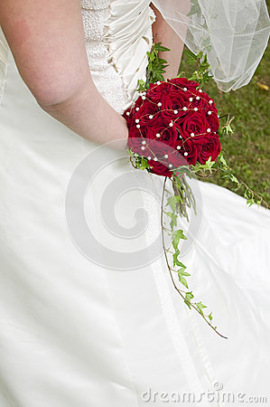 Wedding bouquet with red roses.GN