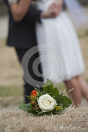 Wedding bouquet with rose