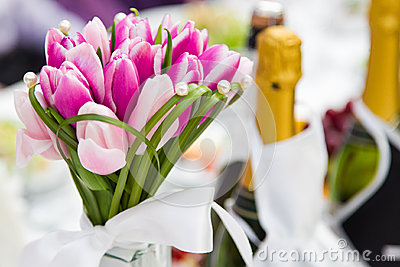 Wedding bouquet tulips