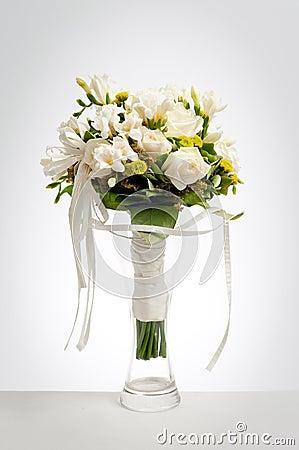 Wedding bouquet in vase