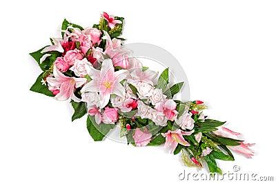 Wedding bouquet on white.
