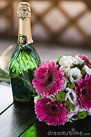 Wedding bouquet of the wine