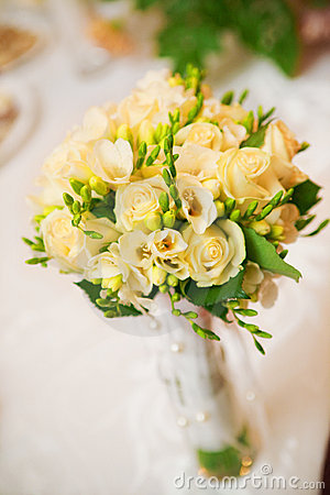 Wedding bouquet in yellow