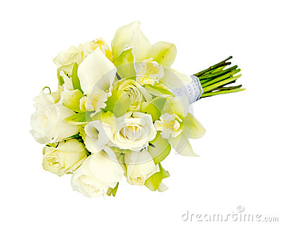 Wedding bridal bouquet flower arrangement